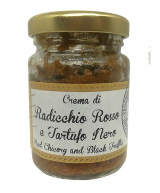 Crème de Chicorée Rouge et Truffe Noire