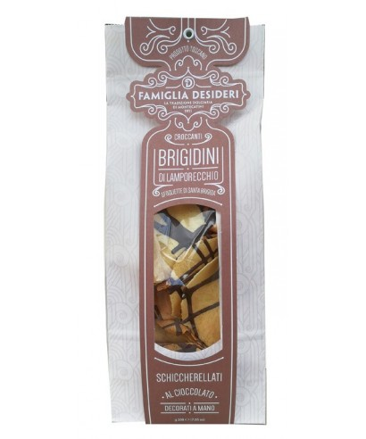 Italian Anise Cookies Brigidini with Chocolate