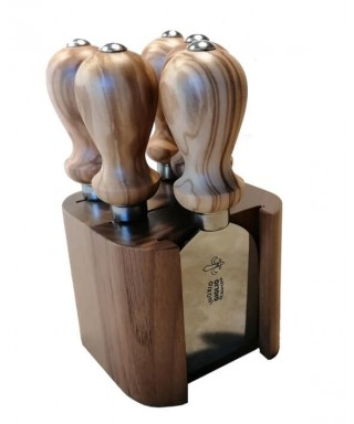 Cheese Knife Block Set - 5 Knives