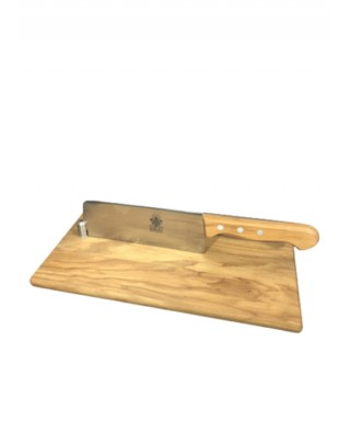 Cutting Board with Kitchen Knife