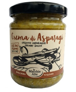 Asparagus cream sauce